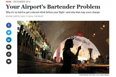 Your Airport's Bartender Problem