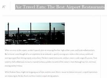 Air Travel Eats: The Best Airport Restaurants