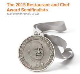 The 2015 Restaurant and Chef Award Semifinalists